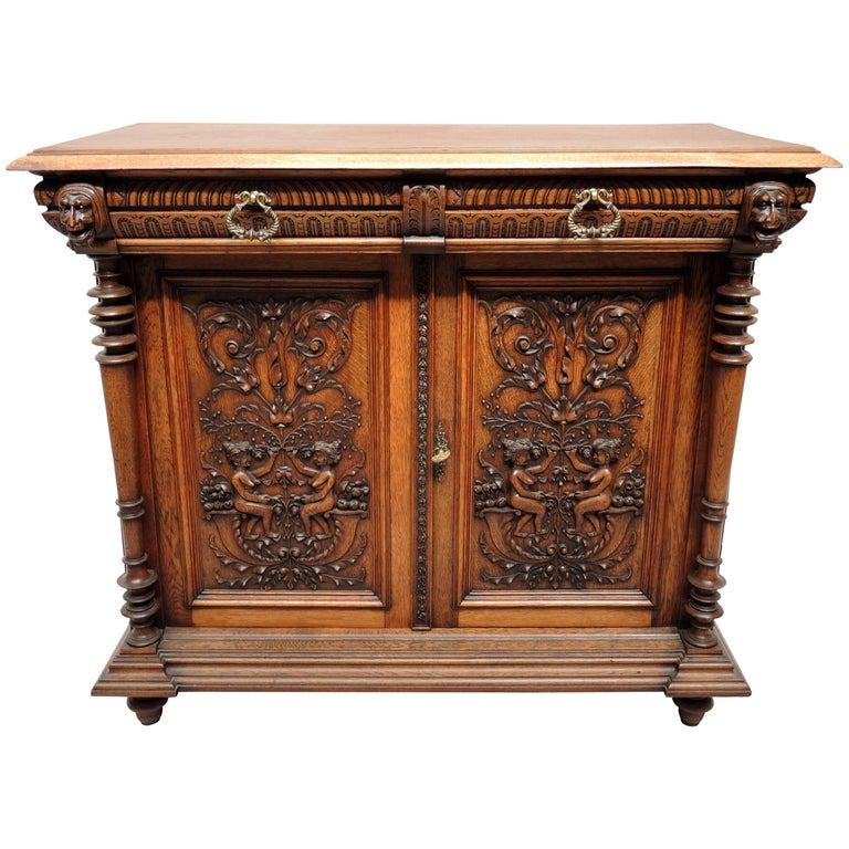 19th Century Renaissance Revival Buffet Cabinet