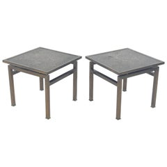Pair of Bronze Side Tables by Philip and Kelvin LaVerne
