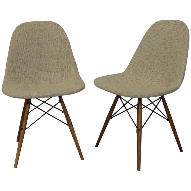 Eames Dowel Leg Wire Chairs For Sale At 1stdibs