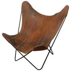 Original 1960s Hand-Stitched Leather Butterfly Chair by Jorge Ferrari-Hardoy
