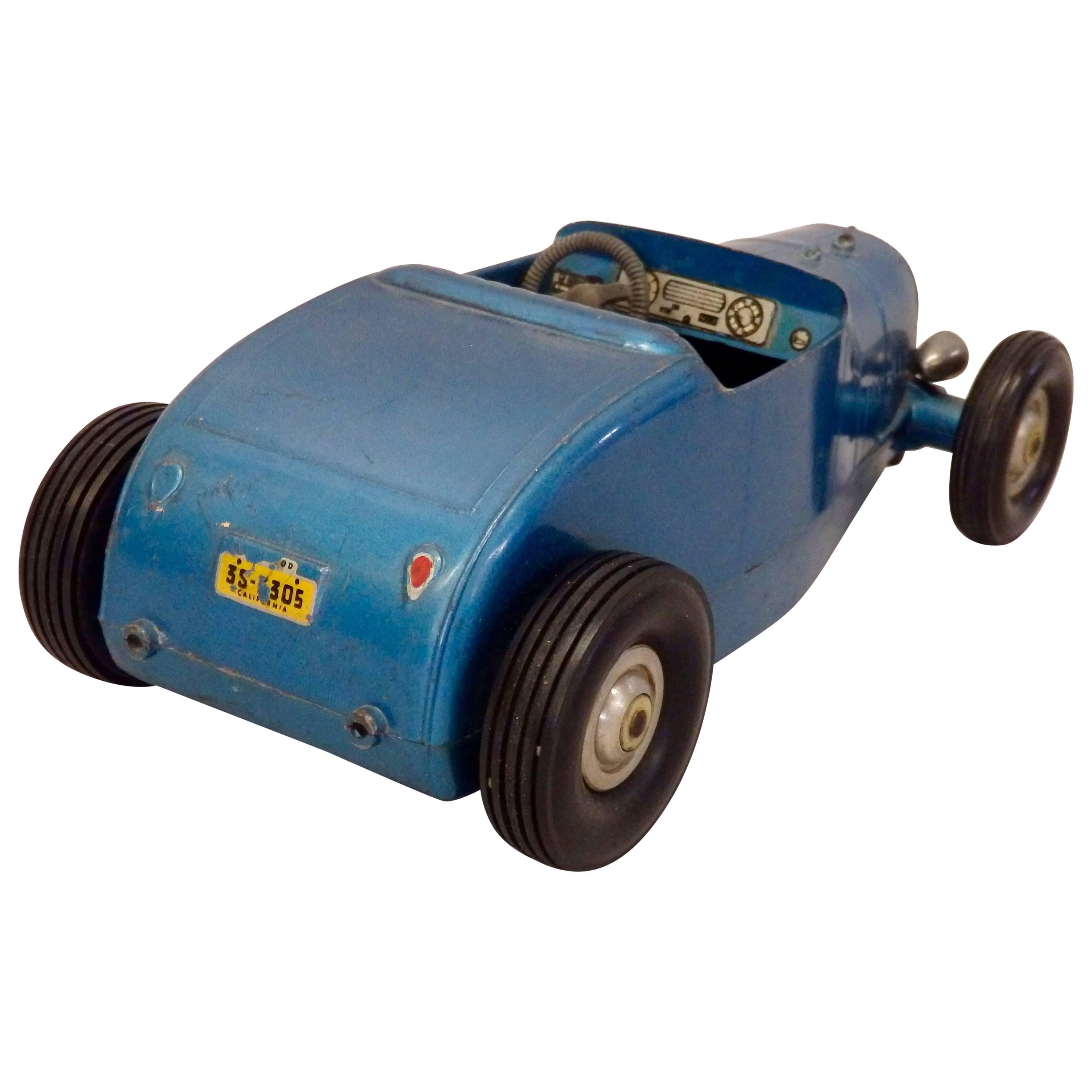 Toy Hot Rod Roadster Tether Car