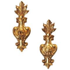 Vintage Italian Sconces of Fleur-de -Lis Form