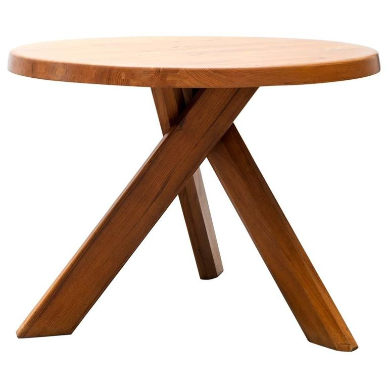 Pierre Chapo Model T21 Dining Table in Solid Elm, France, 1960s For Sale