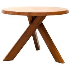 Pierre Chapo Model T21 Dining Table in Solid Elm, France, 1960s