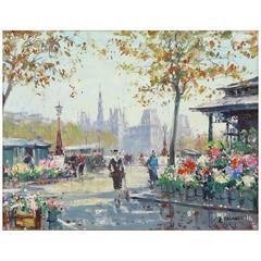 Marche aux Fleurs de la Cite by Jean Salabet