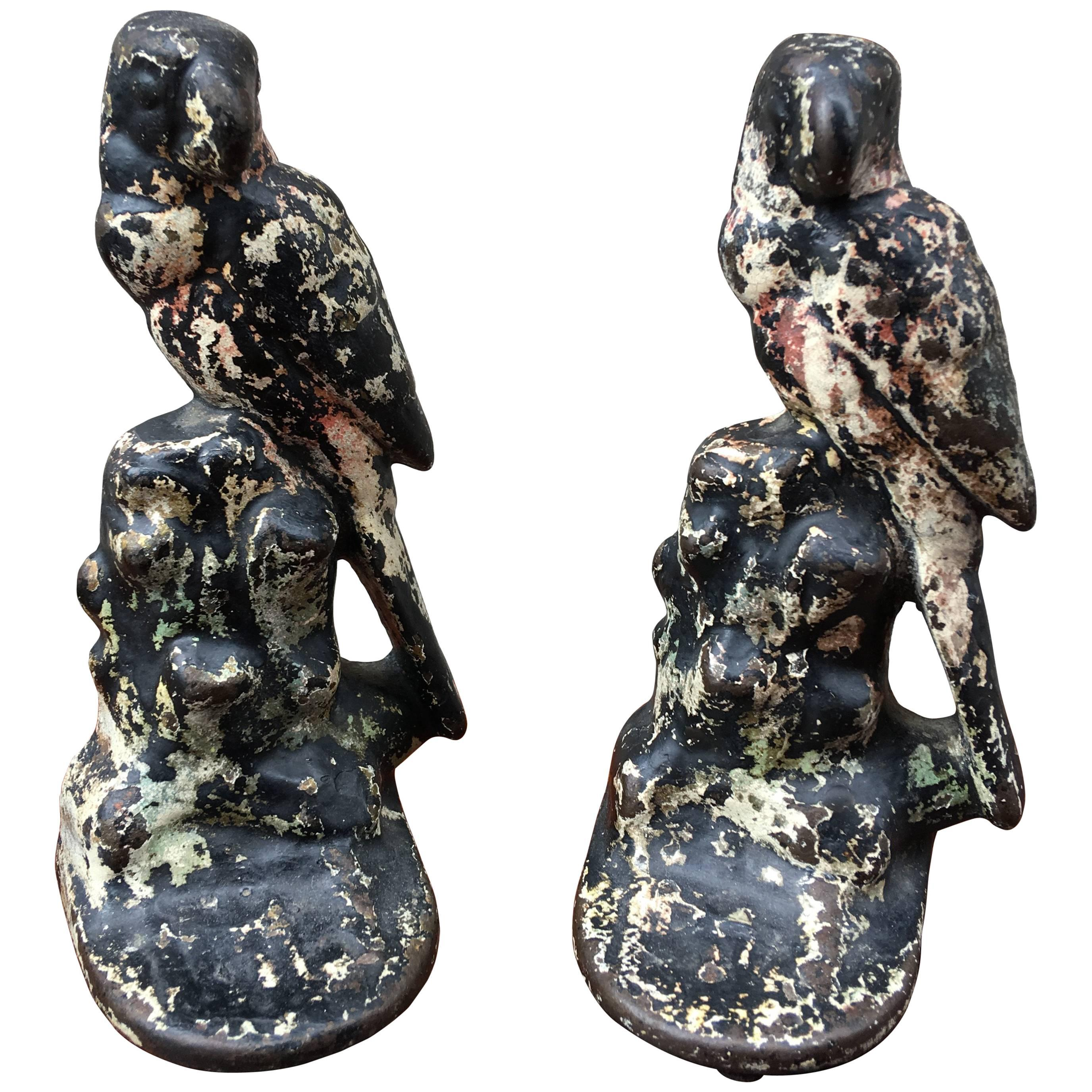 Early 20th Century Parrot Bookends