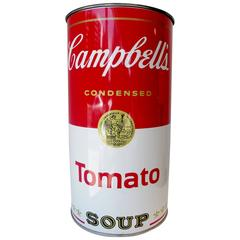 Mid-Century Campbell's Tomato SoupUmbrella Stand  Waste Can After Andy Warhol