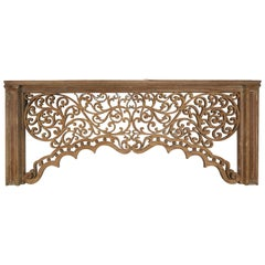Carved Wood Scrolled Architectural Piece