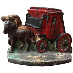 """Early 20th Century """"Stage Coach"""" Doorstop"""