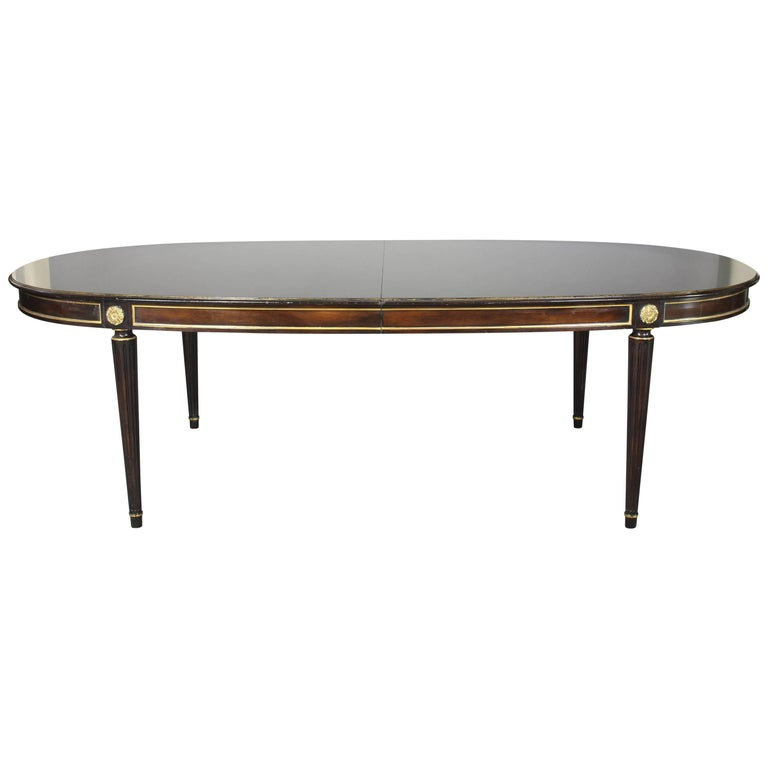 Louis XVI Style Maison Jansen Inspired Dining Table For Sale