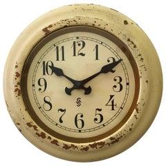 Art Deco Siemens Factory or Workshop Wall Clock