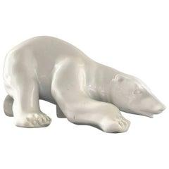 Ceramics Polar Bear from the 1970s, Germany