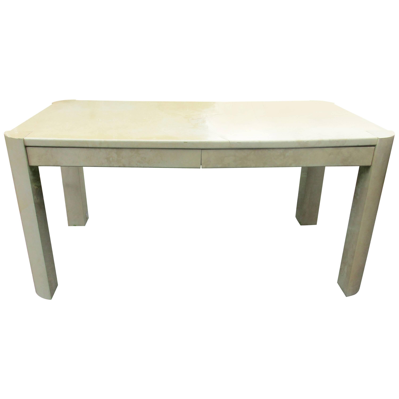 Karl Springer Goatskin Angular Leg Desk/Table