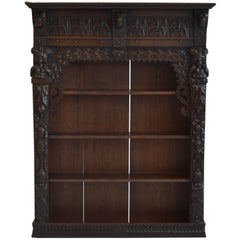Victorian Antique Oak Wall Cabinet, 19th Century, English