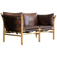 Arne Norell Safari Sofa Model Ilona in Cognac Leather for Norell Ab, Sweden