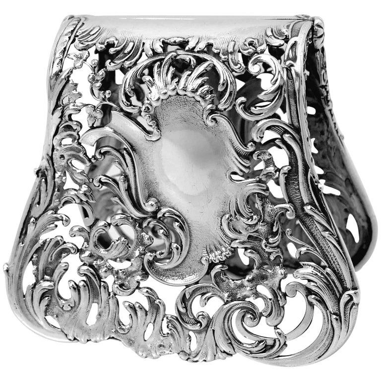 Debain Fabulous French All Sterling Silver Asparagus Sandwiches Grip Art Nouveau