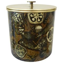 Early Piero Fornasetti Ice Bucket, Sealife Decor, circa 1960s
