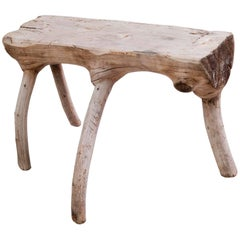 Early 20th Century Shepherd Stool of the Savoy Made of Fir Tree
