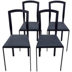 Four Unknown Steel Chairs, 1990s