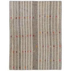 Vintage Nomadic Kilim, Flat-Weave Rug