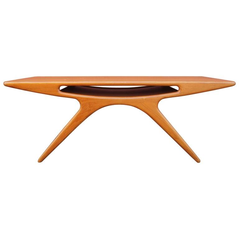 "Teak ""Smile"" Coffee Table by Johannes Andersen for CFC Silkeborg"