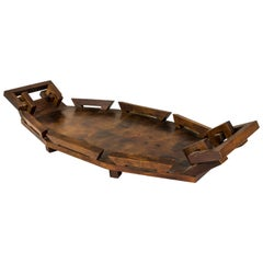 Interesting and Rare Art and Crafts Wooden Tray, circa 1930