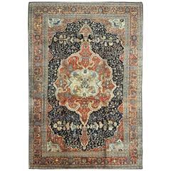 Large Antique Persian Sarouk Farahan Rug