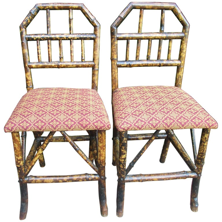 19th Century Bamboo Hall Chairs