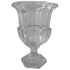 Vintage Tiffany & Co, Crystal Vase of Campana Form, 20th Century