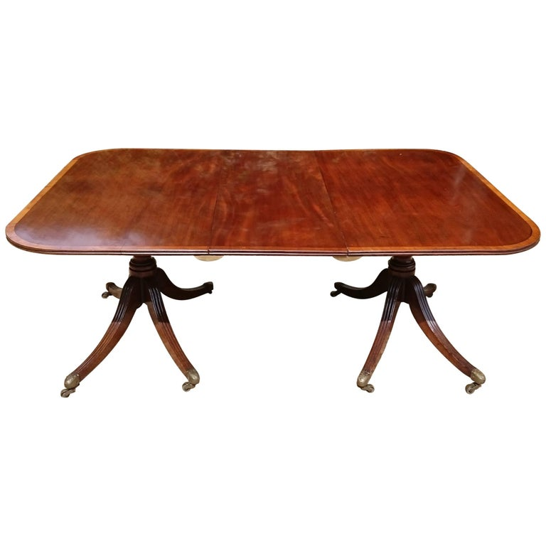 Top quality george iii 18th century mahogany twin pedestal for Best quality dining tables