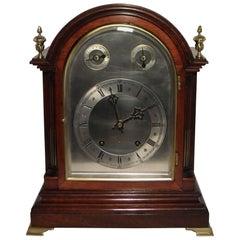German Mahogany Bracket Clock by W&H