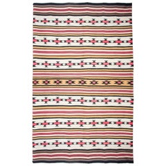 Unique and Impressive Navajo Wool Blanket