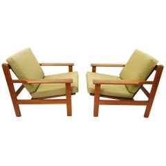 Pair of Easy Chairs by Poul Volther for Frem Rølje
