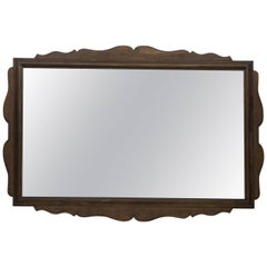 1930s Oak Framed Mirror by Jules Leleu
