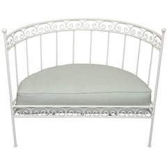 White Wrought Iron Settee