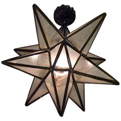 19th Century French Provincial Metal Star Lantern
