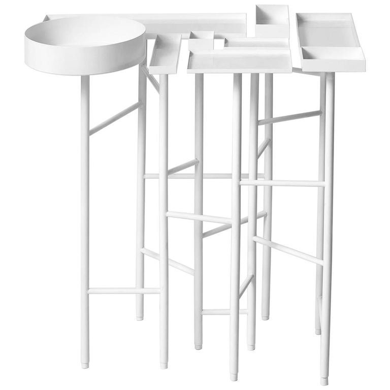 OCD Collection, Metal with Electrostatic Paint Side Table 3B For Sale