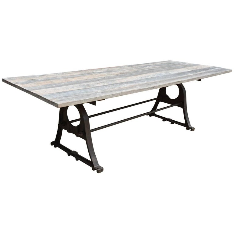 Renaissance-style metal dining table, new