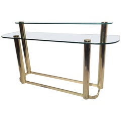 Two-Tier Console Table by Leon Rosen for Pace Collection