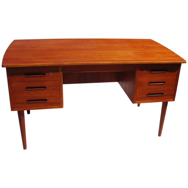 Danish Mid-Century Modern Teak Desk For Sale