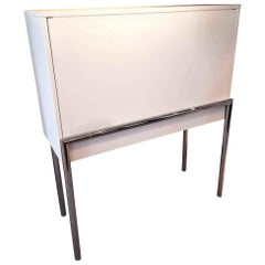 Secretary Orcus Manufactured by ClassiCon in White Fibreboard and Chromed Metal