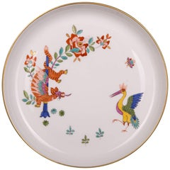Meissen Wall Platter Kakiemon Chinese Dragon and Stork