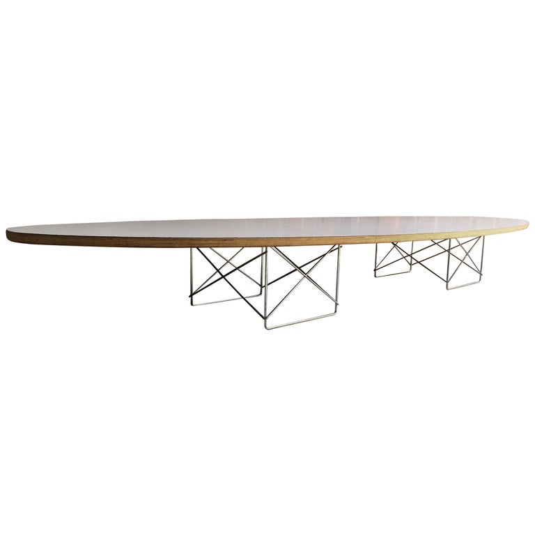 charles and ray eames elliptical coffee table for herman miller surfboard for sale at 1stdibs. Black Bedroom Furniture Sets. Home Design Ideas
