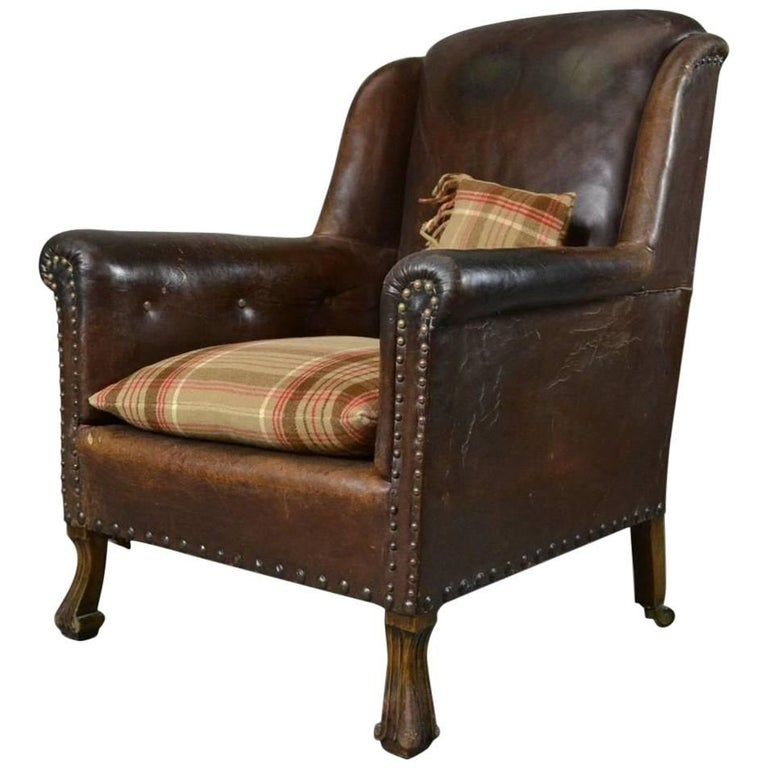 old armchairs for sale antique brown leather armchair for at 1stdibs 3617