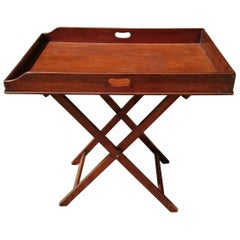 18th Century George III Period Mahogany Folding Antique Butler's Tray