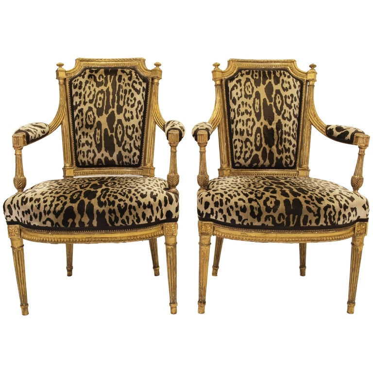 Stunning Pair of Louis XVI Chairs Attributed to Jean-Baptiste Claude Sene, 1780 For Sale