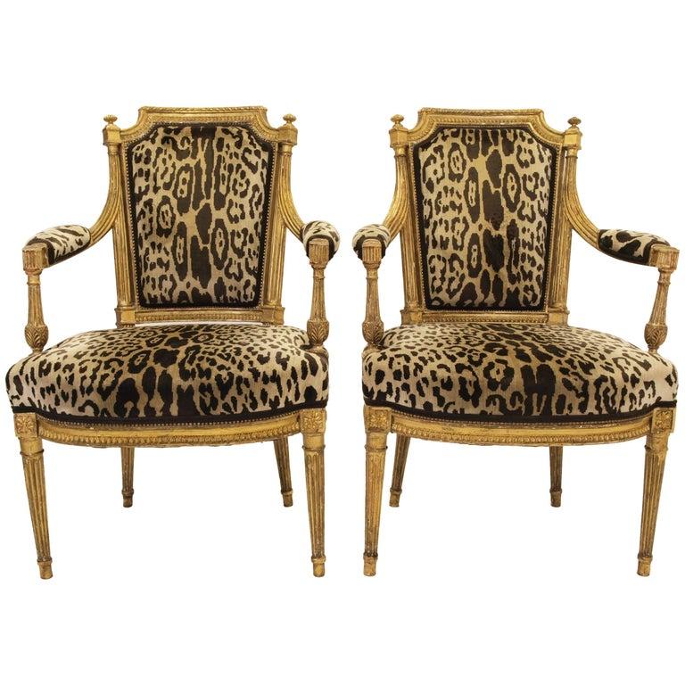 Stunning Pair of Louis XVI Chairs Attributed to Jean-Baptiste Claude Sene, 1780 1