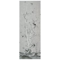 Schumacher Miles Redd Brighton Pavilion Chinoiserie Black White Wallpaper Panel