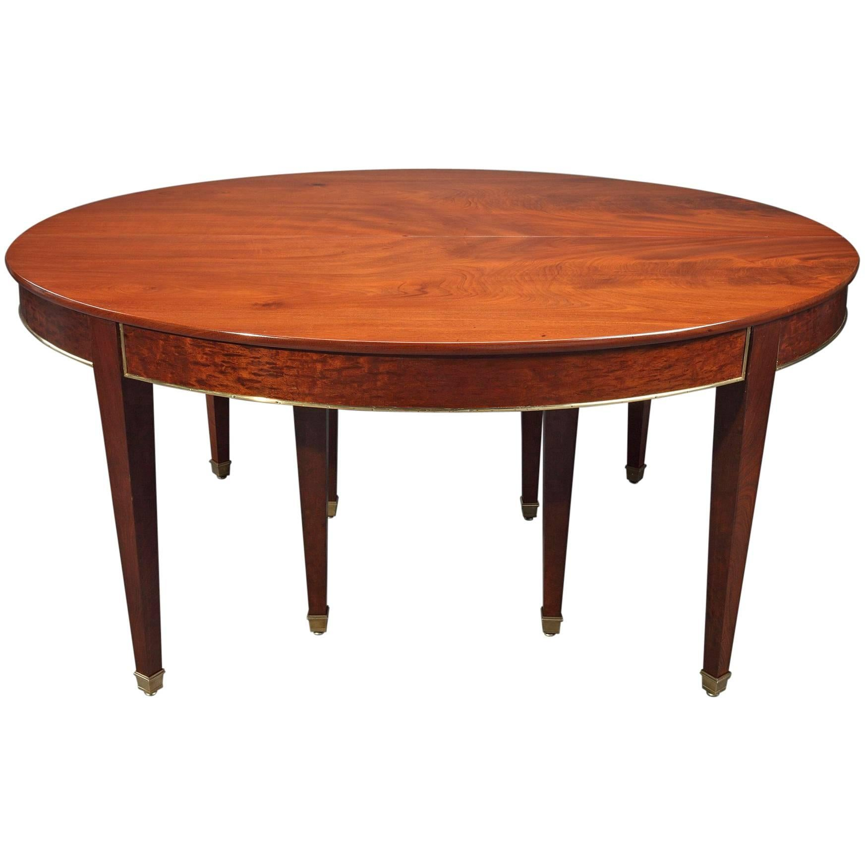 Bespoke Walnut Directoire Style Extending Dining Table At 1stdibs