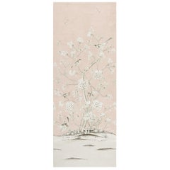 Schumacher Mary McDonald Chinois Palais Floral Blush Conch Wallpaper Panel